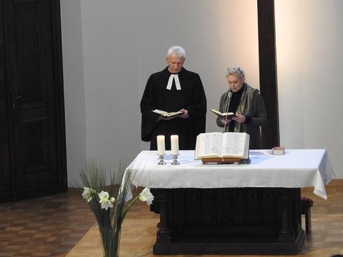 Nabożeństwo 21 stycznia 2018 r. połączone z wręczeniem nagrody ks. M. Jabłońskiemu od Polskiej Rady Chrześcijan i Żydów