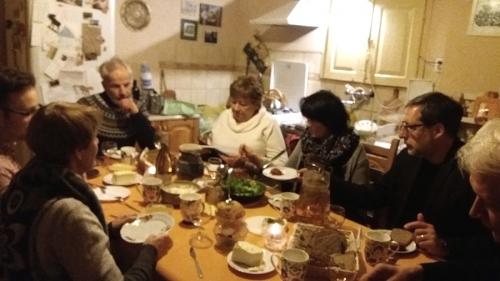 Nabożeństwo ekumeniczne w Słubicach; kolacja w Grzybowie (24.02.2019)