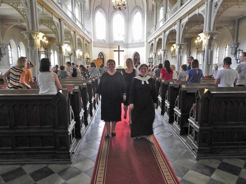 Nabożeństwo z chrztem 23 czerwca 2019 r. Prowadzą ks. Julia Meason i Marta Borkowska-12
