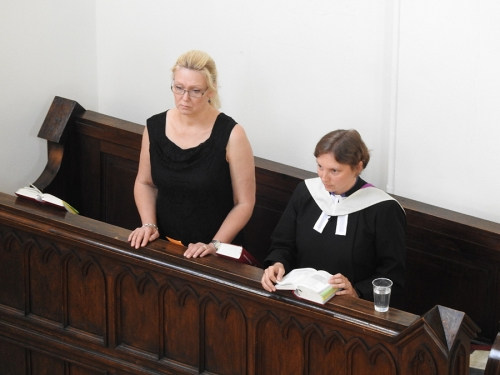 Nabożeństwo z chrztem 23 czerwca 2019 r. Prowadzą ks. Julia Meason i Marta Borkowska-2