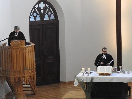 Nabożeństwo z Wieczerzą Pańską, w którym uczestniczyła delegacja Europejskiej Wspólnoty Kościołów Ewangelickich 25 lutego 2018 r.